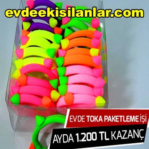 Lastik Toka Paketleme işi aylık 1200 TL