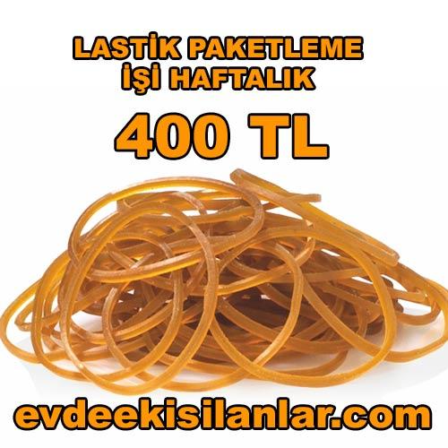 Lastik Paketleme işi ile haftada 400 TL kazanabilirsiniz